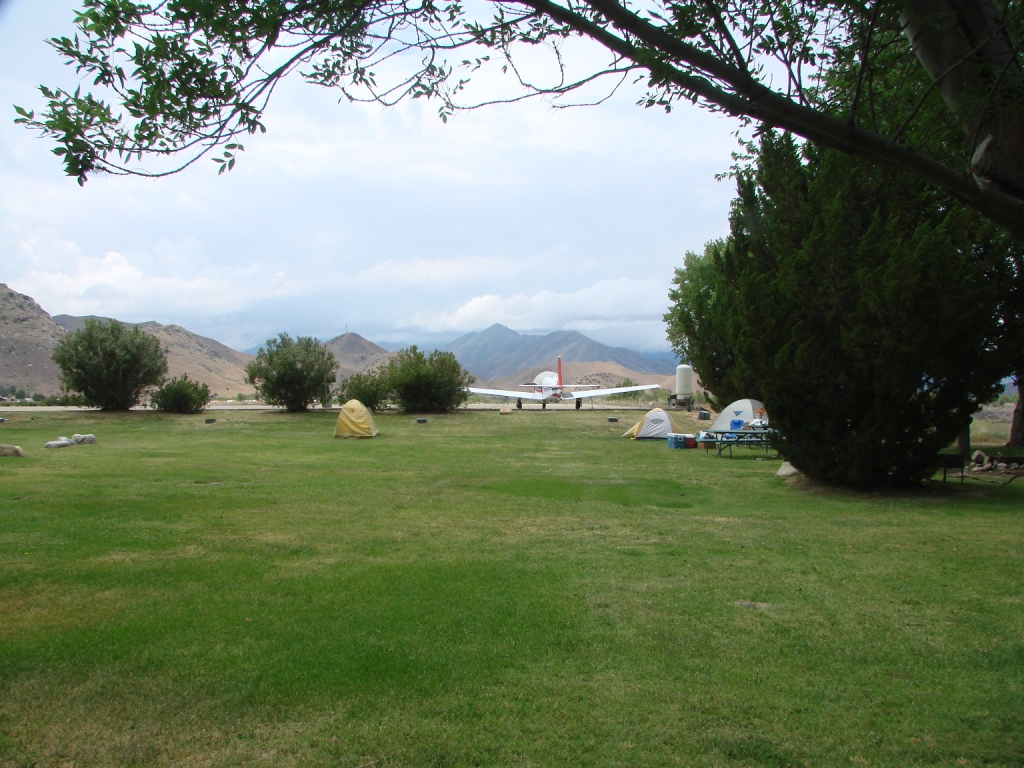 Airport camping is on the west side of the airport away from the hustle of  the FBO, Cafe and fuel island.