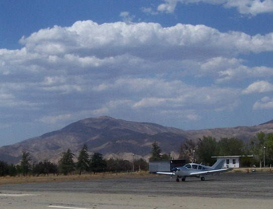 On the ramp in New Cuyama Airport