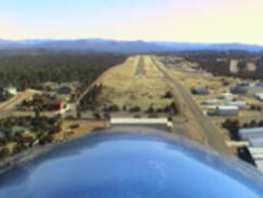 Final approach to Payson AZ