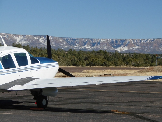 The Mogollon Rim (Mesa) from Payson Airport